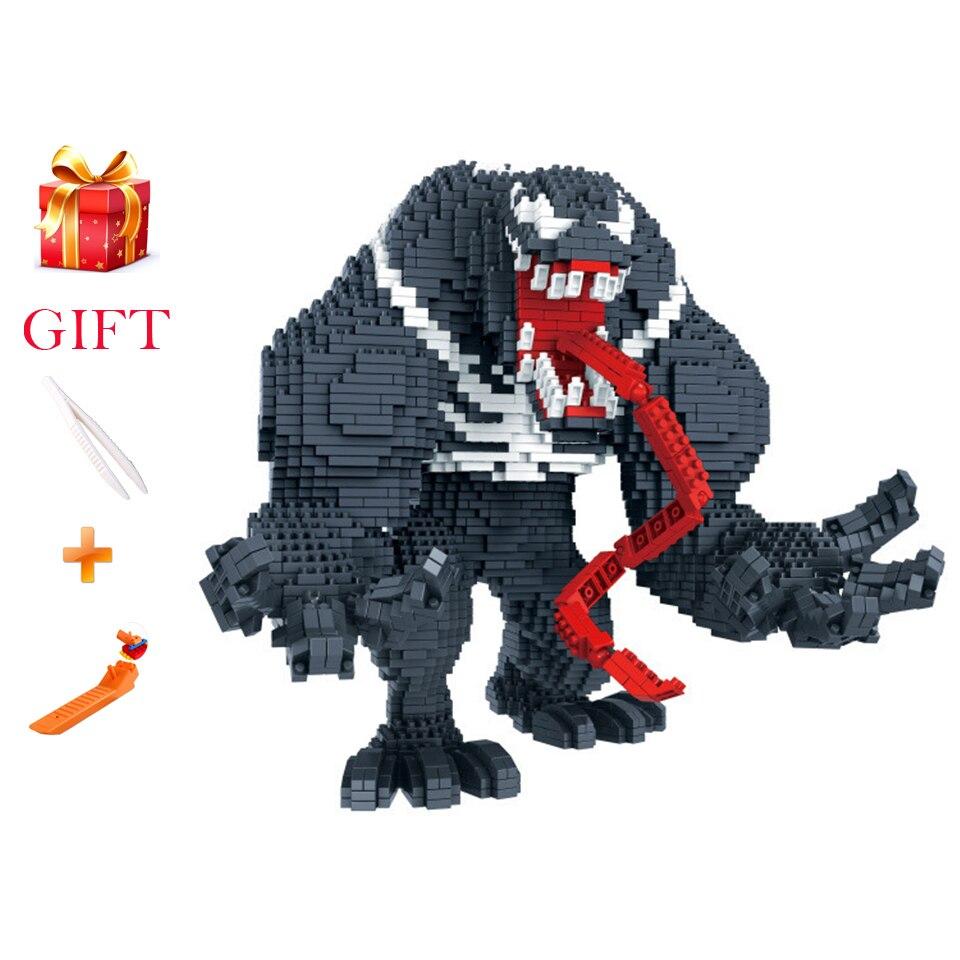 Super Heroes Image Venom Micro Diamond Building Blocks Toys Assemblage Model Bricks Nanoblock Educational Kids