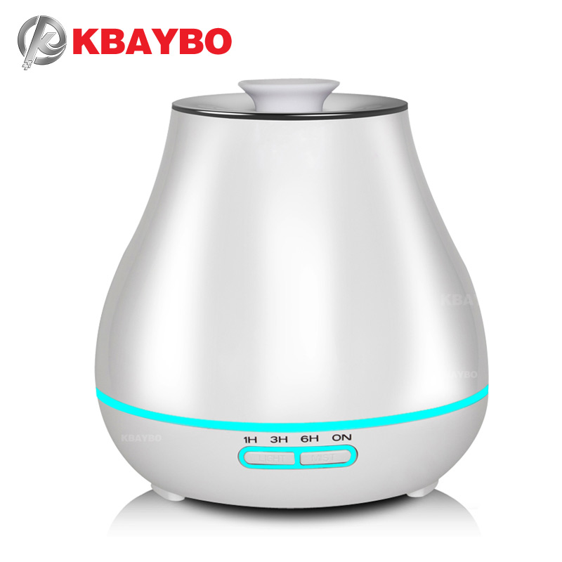 400ml Aroma Essential Oil Diffuser Ultrasonic Air Humidifier with Wood Grain electric LED Lights aroma diffuser for home kbaybo aroma essential oil diffuser ultrasonic air humidifier with wood grain electric led lights aroma diffuser for home