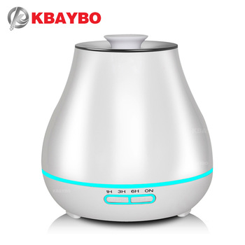 400ml Aroma Essential Oil Diffuser Ultrasonic Air Humidifier with Wood Grain electric LED Lights aroma diffuser for home