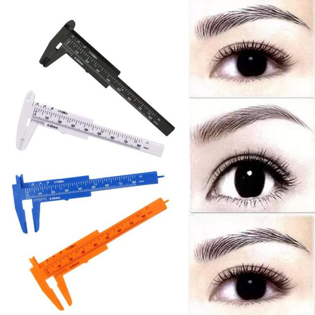 TOP Quality 1PC Microblading Reusable Makeup Measure Eyebrow Guide Ruler Permanent Tools Plastic Material 2018 Anne