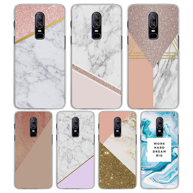 new product 79345 9fda7 US $1.97 34% OFF|for OnePlus 6 5T case rose gold marble stripes Pattern  Transparent frame Hard back Phone Cases Cover for Oneplus 5T 6 case-in ...