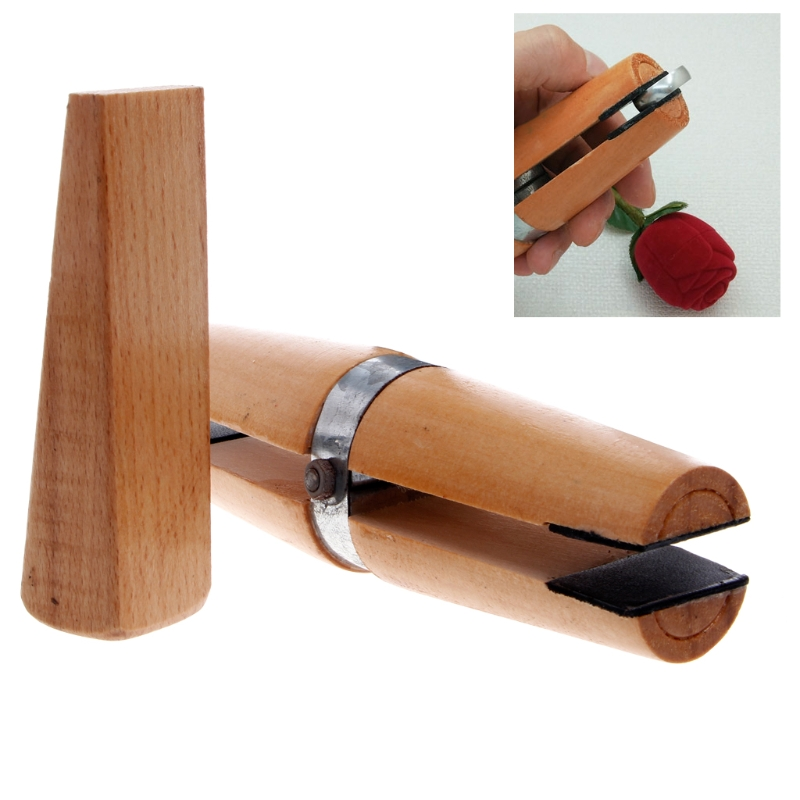 Free Delivery Wood Ring Clamp Jewelers Holder Jewelry Making Hand Tool Benchwork Professional Wood Tweezers