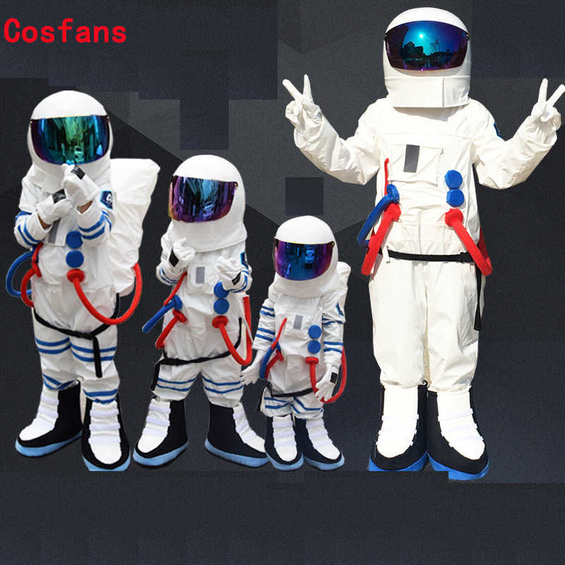 Free shipping Hot Sale High Quality adult Kids Space suit&Astronaut costume with Backpack&LOGO glove&shoes , can be customized