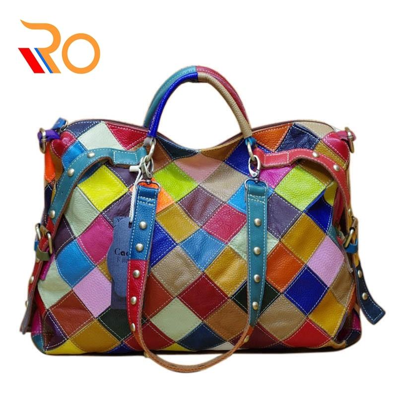 Hot Sale New Patchwork Sheepskin Shoulder CrossBody Bags Ladies Leather Women Bags Women's Genuine Leather Handbags