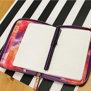 Image 4 - Nowy przyjeżdża lian A5 A6 biały i kolor oryginalny HOBO Zip Bag Planner kreatywny Faux skórzany dziennik bez stron wypełniacza