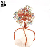 YJXP 2019 New Natural Fluorite Large Lucky Tree Reiki Healing Rock Crystal Ornaments Feng Shui Home Decoraton 1 Pcs