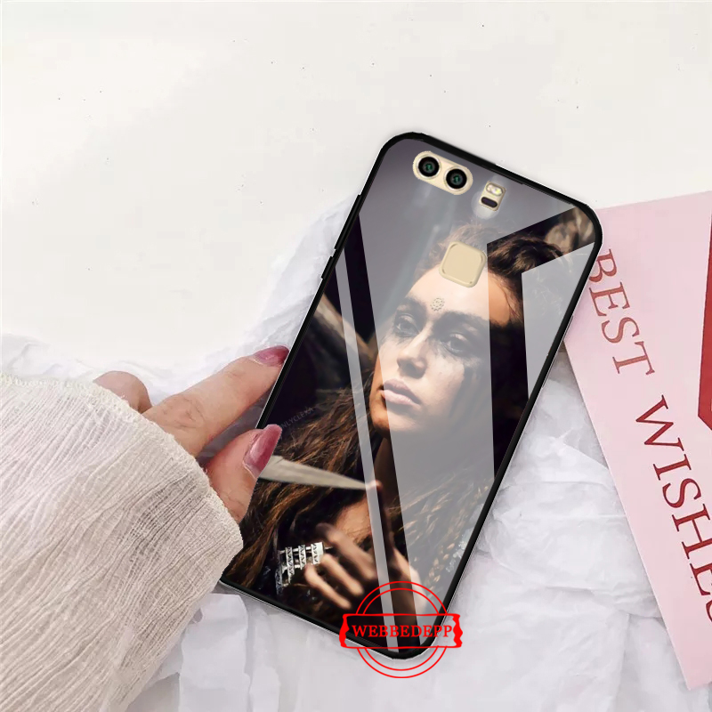 WEBBEDEPP Heda Lexa The 100 TV Show Coque Glass Case for Huawei P10 lite P20 Pro P30 P Smart honor 7A 8X 9 10 Y6 Mate 20 in Fitted Cases from Cellphones Telecommunications