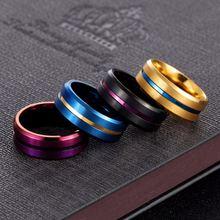 Мужское кольцо из нержавеющей стали 8 мм обручальное Ювелирное