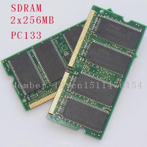 512 MB 2 x 256 MB PC133 133 MHz SDRAM de memória portátil RAM não ECC 144pin SO-DIMM frete grátis