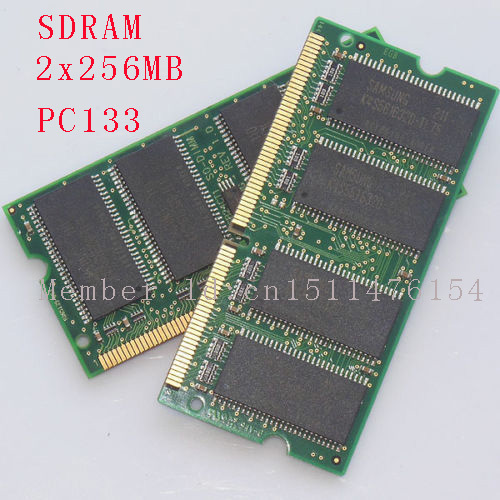 512MB 2x256MB PC133 133MHz SO-DIMM laptop memory RAM Non-ECC 144pin SDRAM NEW Free Shipping