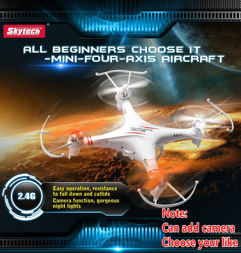 Skytech M62 M62R 2.4G 4CH 6 Axis rc helicopter Radio Control Quadcopter Toys RC Drone Quad copter Skytech M62R can add Camera
