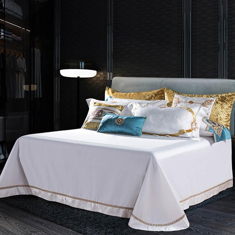 Image 3 - Svetanya white Brocade Bedding Set king queen double size Bedlinen-in Bedding Sets from Home & Garden