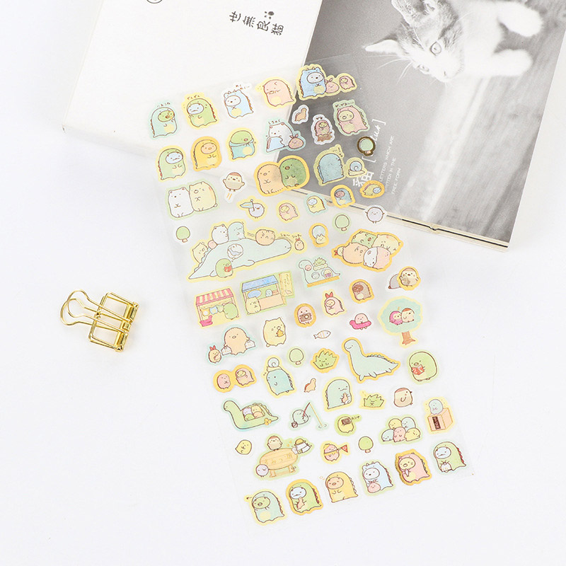 Diy cute kawaii Bronzing sticky paper cartoon animal pvc stickers for decoration scrapbooking Free shipping 1136 cute kawaii cartoon animal stickers creative fruit vegetables sticky paper for scrapbooking diary free shipping 994