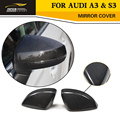 A3 Car Styling Carbon Fiber Replacement Mirror Covers Caps For Audi A3 & S3 2014UP