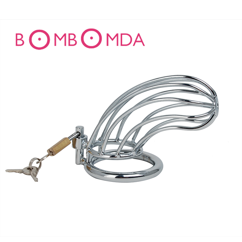1 pc Stainless Steel Male Chastity Lock Penis Lock Cock Cage Bird Cage Chastity Device Penis