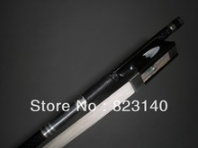 3 PCs 4/4 Quality Strong Black Carbon Fiber Bow with Ebony Frog,White horse hair 2002#