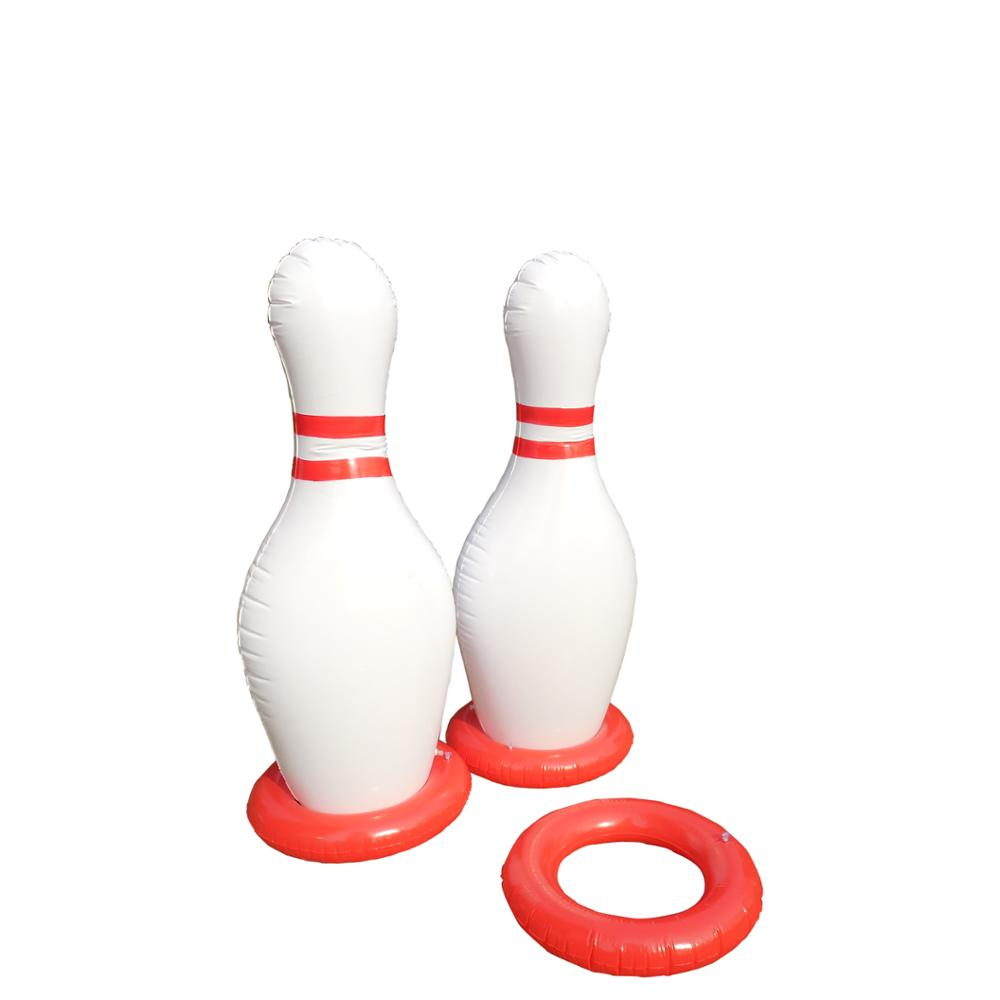 Outdoor Sports Game 60Inch 1.5m Giant Inflatable Bowling Pin with Ring Game Large Inflatable Pins