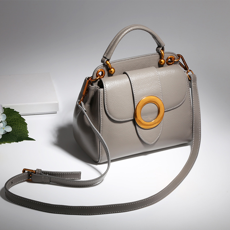 2017 Vintage Luxury Handbags Women Bags Designer Ring Hasp Flap Tote Bags Genuine Leather Small Crossbody Bags For Women Bolsas