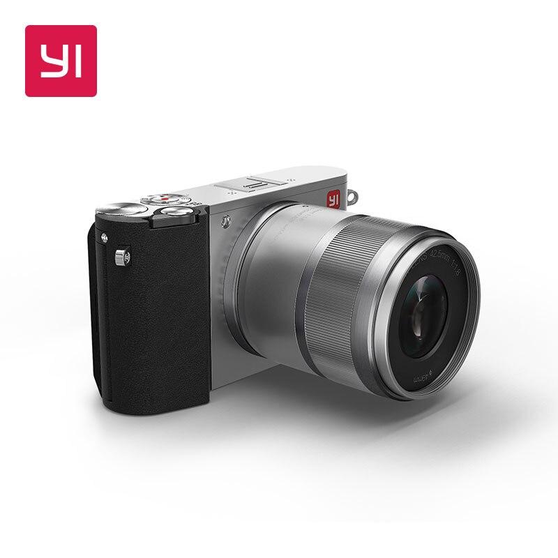 YI M1 беззеркальных цифровой Камера объектив с фиксированным фокусным расстоянием ЖК-дисплей минималистский международная версия 20MP видео Р...