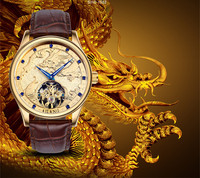 Тотем Ele Для мужчин t для крутых парней рельеф Дракон наручные часы лошадь AILANG Для мужчин кристаллы Tourbillon наручные часы Авто самостоятельно
