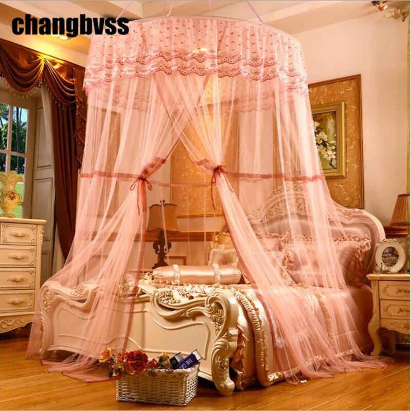 Maille de moustiquaire de maison de dentelle pour le lit Double, filet de rejet d'insecte pour le voyage, tente répulsive de moustique de rideaux de lit d'auvent circulaire