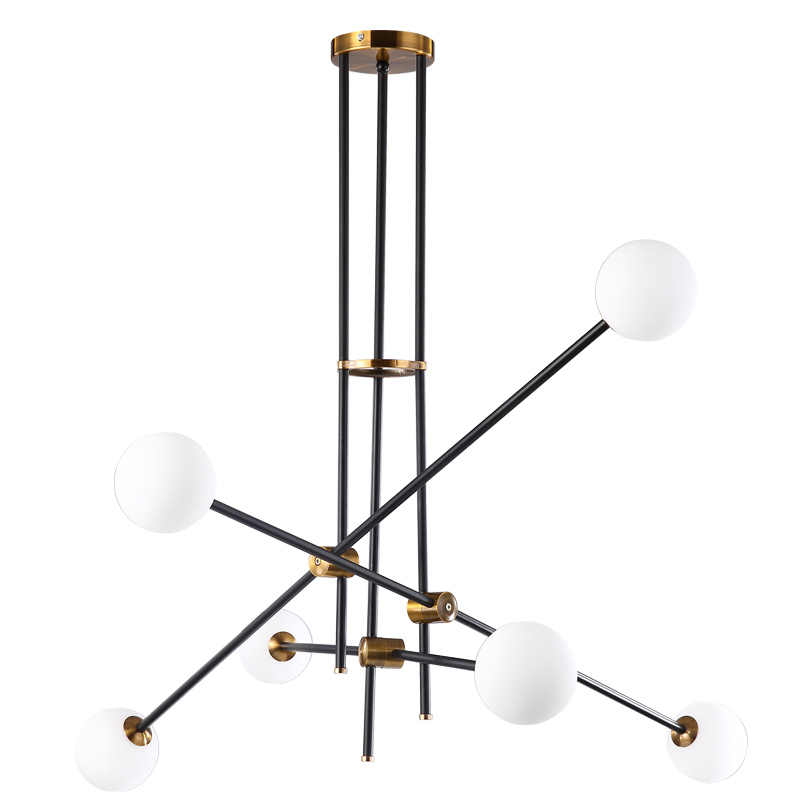 Post современная люстра, филиал свет Гостиная, холл гладить Модо стеклянный шар простые линии подвесной светильник освещение приспособление