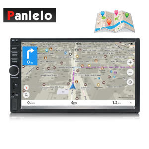 Car GPS Navigation Offline-Map Bluetooth Android Auto Radio 2-Din Vehicle-Head-Unit Steering-Wheel-Control