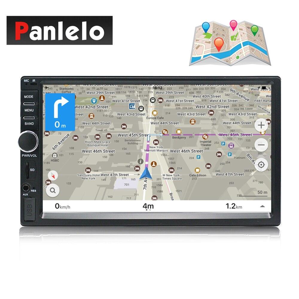 Di Navigazione GPS Per auto 2 Din Android in Linea in linea Mappa Del Veicolo Capo Unità Auto Radio AM/FM Controllo del Volante bluetooth Wi-Fi'