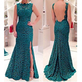 40 3883 Summer Maxi Dress 2016 Long Dress Elegant Female Bodycon Floor Length Crochet Lace Backless Hollow Out Robe Longue Femme
