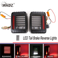 LED Tail Brake Reverse Lights Backup Rear Reverse Light Assembly Kit Fit 07 16 Jeep JK Wrangler Plug&Play US Version 3Generation