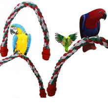 Colorful Fashion Parrot Bird Toys Decorative Pet Bird Parrot Standing Rope Cockatiel Parakeet Conure Cage Swing Perch Toy
