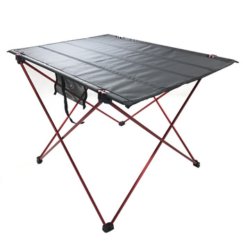 Portable Roll-Up Aluminum Camping Picnic Table  hiking Table Folding Camping Carrying Bag