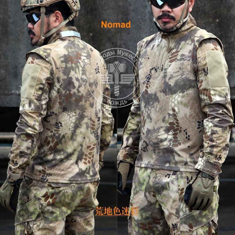 Army Military Tactical Pants and Combat Jackets Uniform Camouflage Kryptek CS Game Uniform Sets Men Clothing Set Велюр