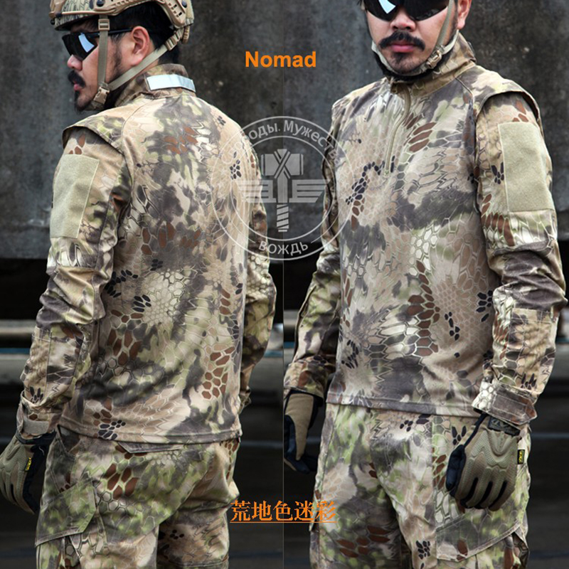 Здесь продается  Army Military Tactical Pants and Combat Jackets Uniform Camouflage Kryptek CS Game Uniform Sets Men Clothing Set  Спорт и развлечения