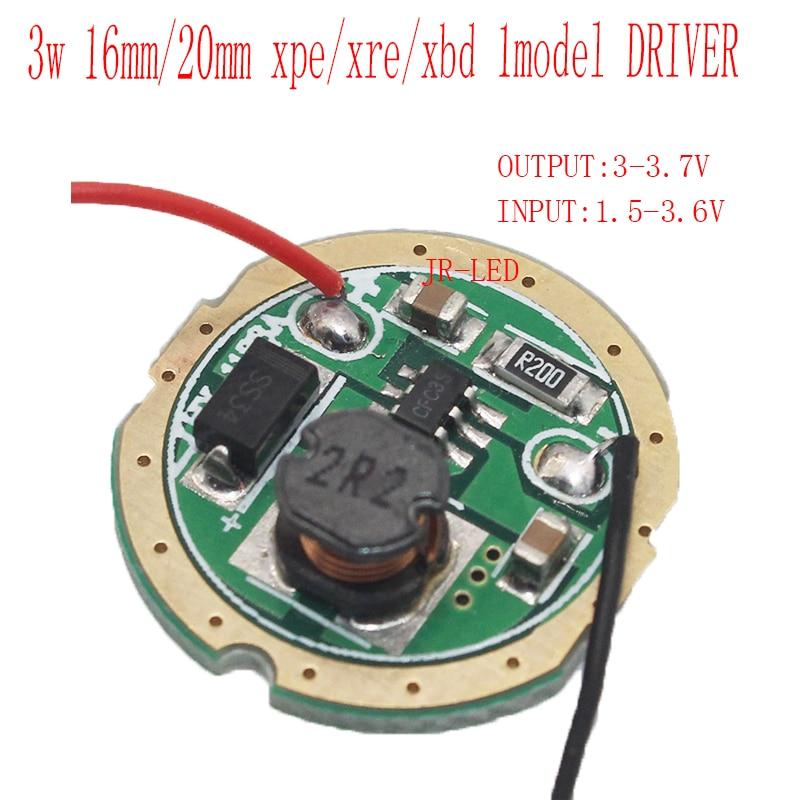 1pcs 3w Led Driver 16mm Dc37v 1 Mode Led Flashlight Driver For Cree