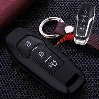 3 Button Keyless Entry Aluminium Car Key Case Cover For Ford New Edge Mondeo Escape EXPLORER