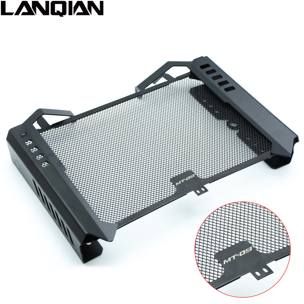 High Quality For Yamaha MT09 2014 2015 Protector Motorcycle Radiator Side Cover Set & Radiator Grille Guard Cover MT 09 MT-09 motorcycle radiator protective cover grill guard grille protector for kawasaki z1000sx ninja 1000 2011 2012 2013 2014 2015 2016