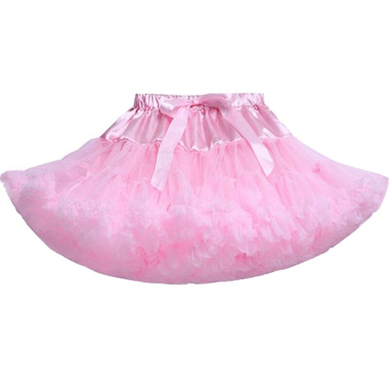 Юбка для маленьких девочек; детская Пышная юбка-американка для девочек; винно-красная юбка-пачка; детская юбка; пышная юбка-пачка для маленьких девочек; - Цвет: Розовый
