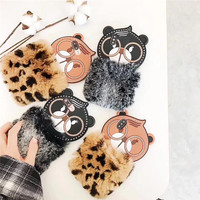 Luxury Leopard Print OWL Bear Cartoon 3D Coque Funda For IPhone8 8Plus X 10 7 7Plus