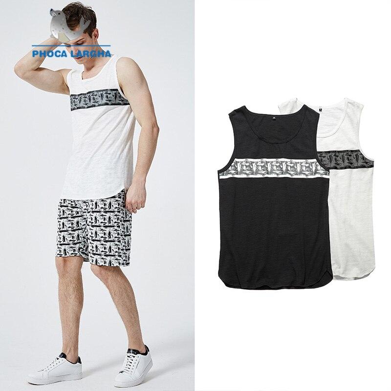 Nett 2019 Männer Der Sommer Druck Tank Top Männer Mode V-ausschnitt Fitness Unterhemd Bodybuilding Männlichen Casual Ärmellose Weste Hitze Und Durst Lindern.