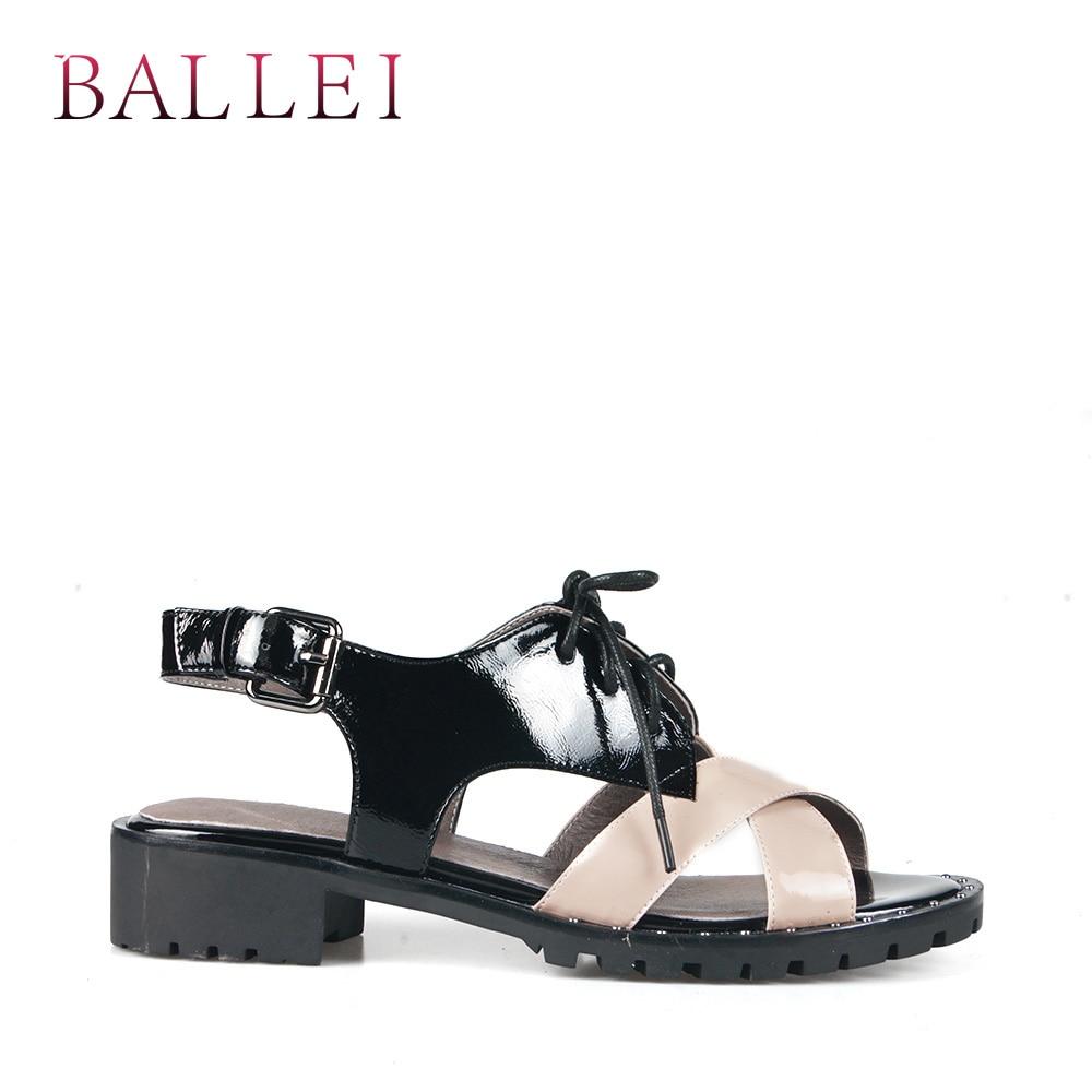 4b43a01a4e6ef3 Carré Arrière Sangle Chaussures Femme Sandale D'été Talon Décontracté De  Luxe Cuir Ballei Doux Mode Solide Vintage Véritable S92 Souple Black  uTJl1FcK3