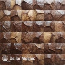 Southeast Asia style natural 100% coconut shell mosaic tile for house decoration цена