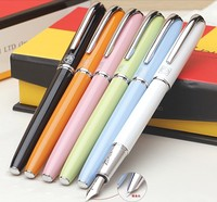 1pcs Lot High Quality Picasso 916 Fountain Pen Malaga 7 Colors Black Pink Brand Pen F