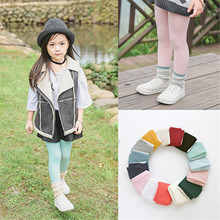 Solid Color Soft Velvet Tights Children Girl Kids Pantyhose Tights Dance Tights Stocking For Baby 2-12 Years