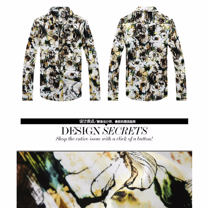 mens leopard print dress shirt