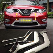 For 2014 2015 2016 Nissan X-Trail T32 Rogue Front Bumper Grille Grill Cover Trim X Trail XTrail ABS Car Styling Accessories 4pcs(China)