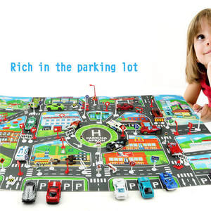 Play-Mat Game-Scene Buildings Parking-Map City-Road Kids Educational-Toys Infantil Alfombra