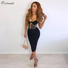 9ffcb476303b Ocstrade Club nocturno negro Vestido de vendaje nuevos Sexy 2019 de moda de  las mujeres con