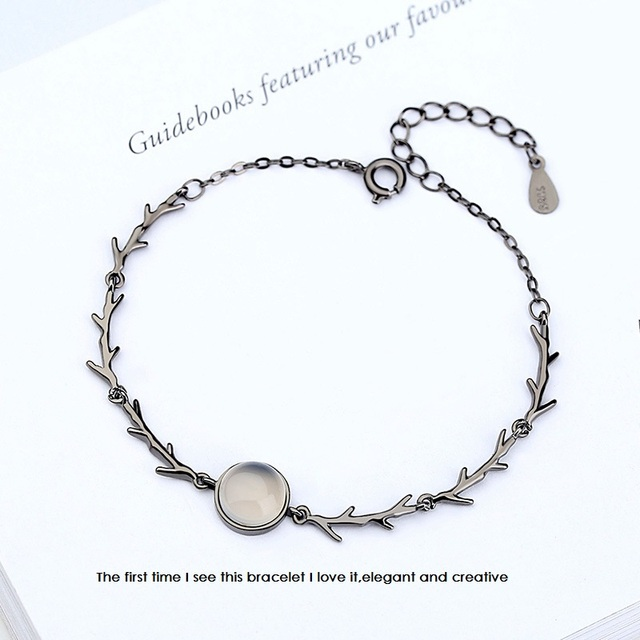 Kreatywny księżyc noc las romantyczna bransoletka dla dziewczyn różowe ciernie moda biżuteria Big marka projekt