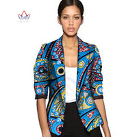 Dashiki African Wax Jacket Print Clothes For Women Suit Full Sleeve Notched Plus Size 6xl African Cotton Jacket Coat AT056